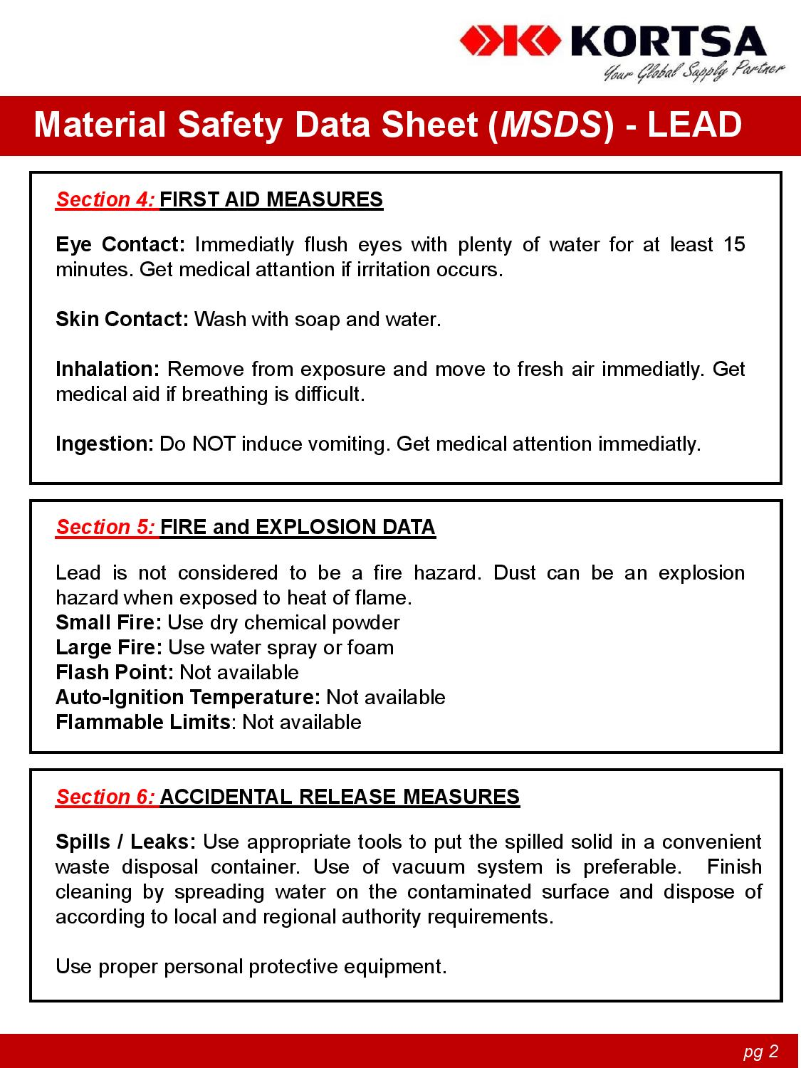 Material Safety Data Sheet image2